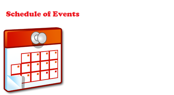 TERM 2 – Schedule of Events