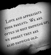 Appreciate your parents